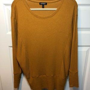 Women's small comfy sweater - orange, sm